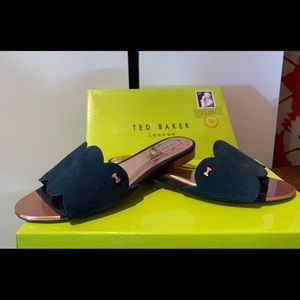Navy Slide Sandal
